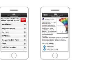 Mobile web application