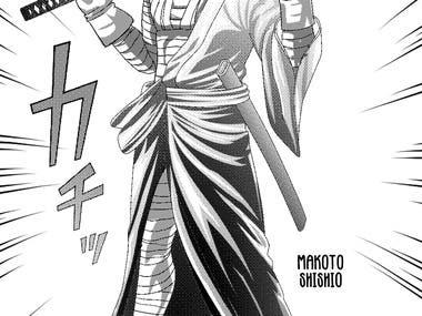 Makoto Shishio Draw manga style