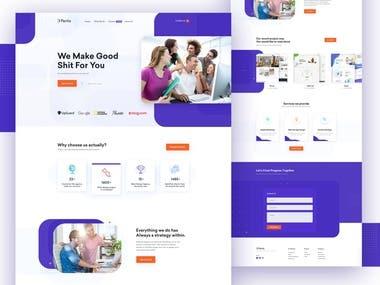Landing Page design (PSD)