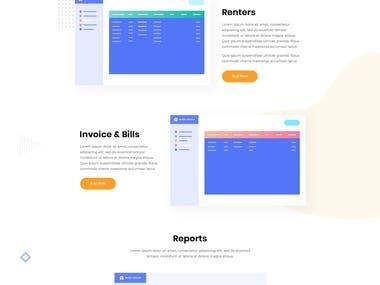 Landing page design for Renter Manager