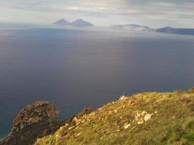 Capo Calav and the Aeolian Islands