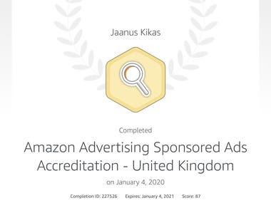 Amazon Sponsored Ads Accreditation