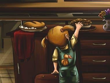 In the kitchen - Artwork.