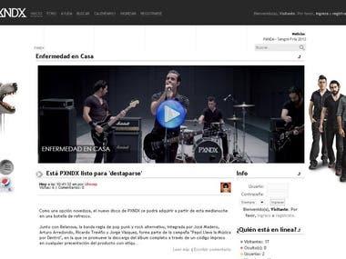 SMF : PXNDX Fan Band webpage