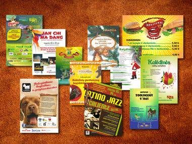 Posters, advertisements in the press