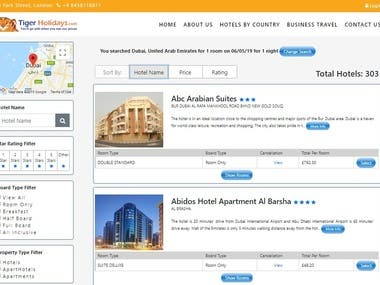 Online Hotel/Transfer Booking