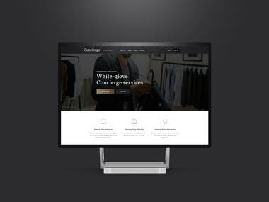 Concierge Services - Build me a website