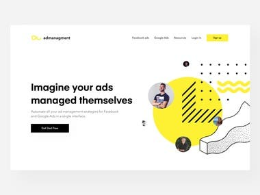 Ad Management Header Concept