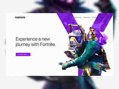 Fortnite - Ad Website