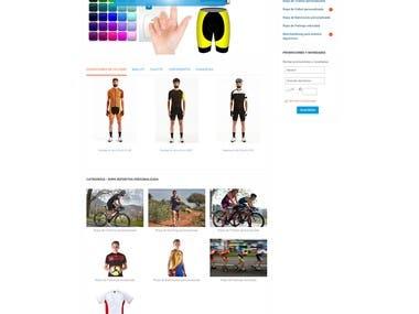 Diseño/desarrollo de página web para Personalizatumaillot