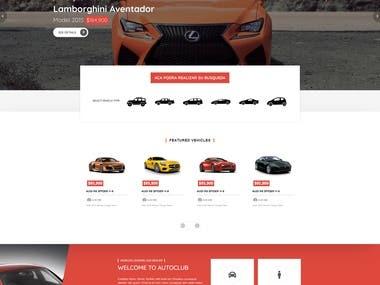 Diseño/desarrollo de página web para Vehicles