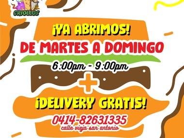 Shawarmas Criollos Flyer