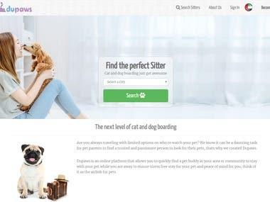 Vue.js - Pet sitter platform
