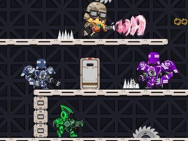 Multiplayer Level Based Arcade Game