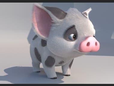 Pua pig 3D Character