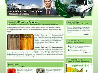 Design and cms application for Cleaning Service Provider