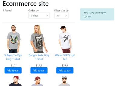Ecommerce with react