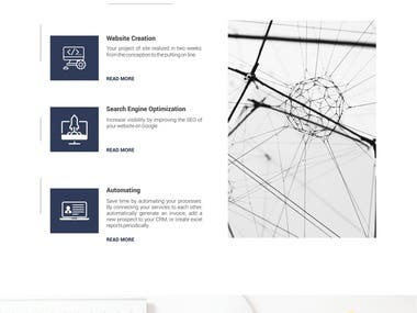 Web Page Design for Web Agency