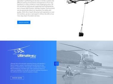 Website design for Aviation Company