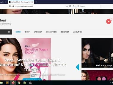 Woocommerce website making