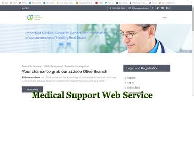 Medical Support Website Development