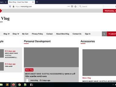 Blogging type website