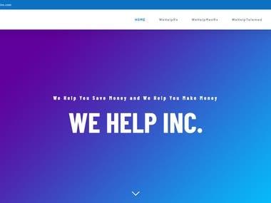We-Help-Inc.com Website Development