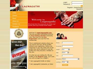 www.lagnagathi.com is a match makers website that is wedding