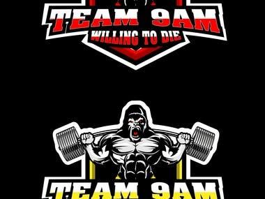 Logo Design for Muscular Gorilla Lifting Heavy Weight