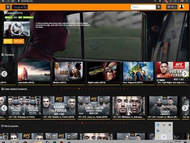 Steamify / Movie streaming website