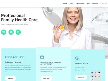 Medical Care Template with Complete Functions