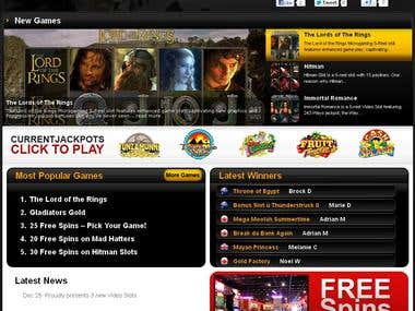 Free Slots Canada(Wordpress Project)