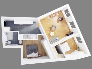 Isometric plans 3D