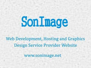 Company Profile Website Development for SonImage Incorporate
