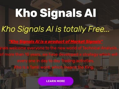 Kho Signal website develop