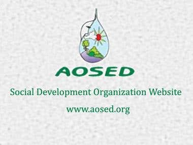 Profile Website for AOSED a Non-Government Organization