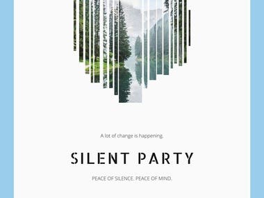 Silent Party poster.