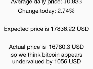 Bitcoin Result Show app