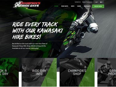 championsridedays.com.au (WordPress CMS E-Commerce)
