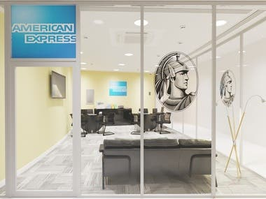 American express office interior viz