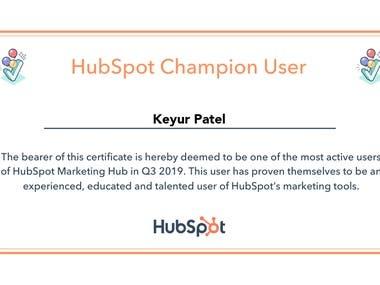 HubSpot Certifications & Awards