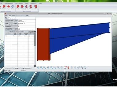Design of Eaves Haunch By Program PROKON 3D modelling.