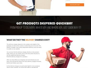 Courier Website Design