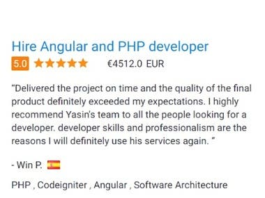 Hire Angular and PHP Developer