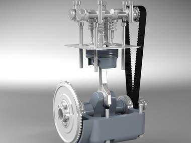 Engine Design in Solidworks