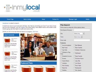 UK PubSite http://inmylocal.co.uk