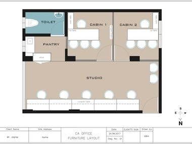 CA Office Interior with Plans & services