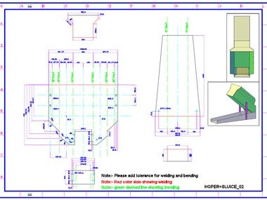 2D Shop Drawing for Laser Cutting