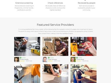 wordpress design for home services