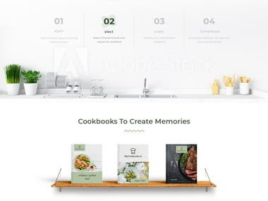 landing page for cookbook.io